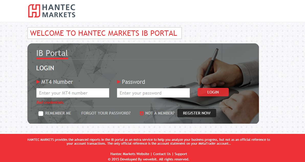 Hantec Markets developed by wewebit