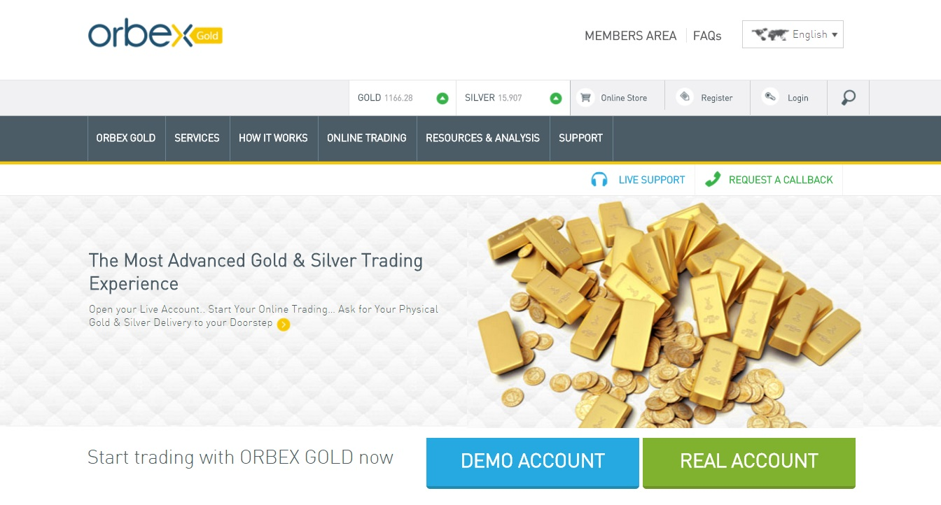 orbex gold developed by wewebit